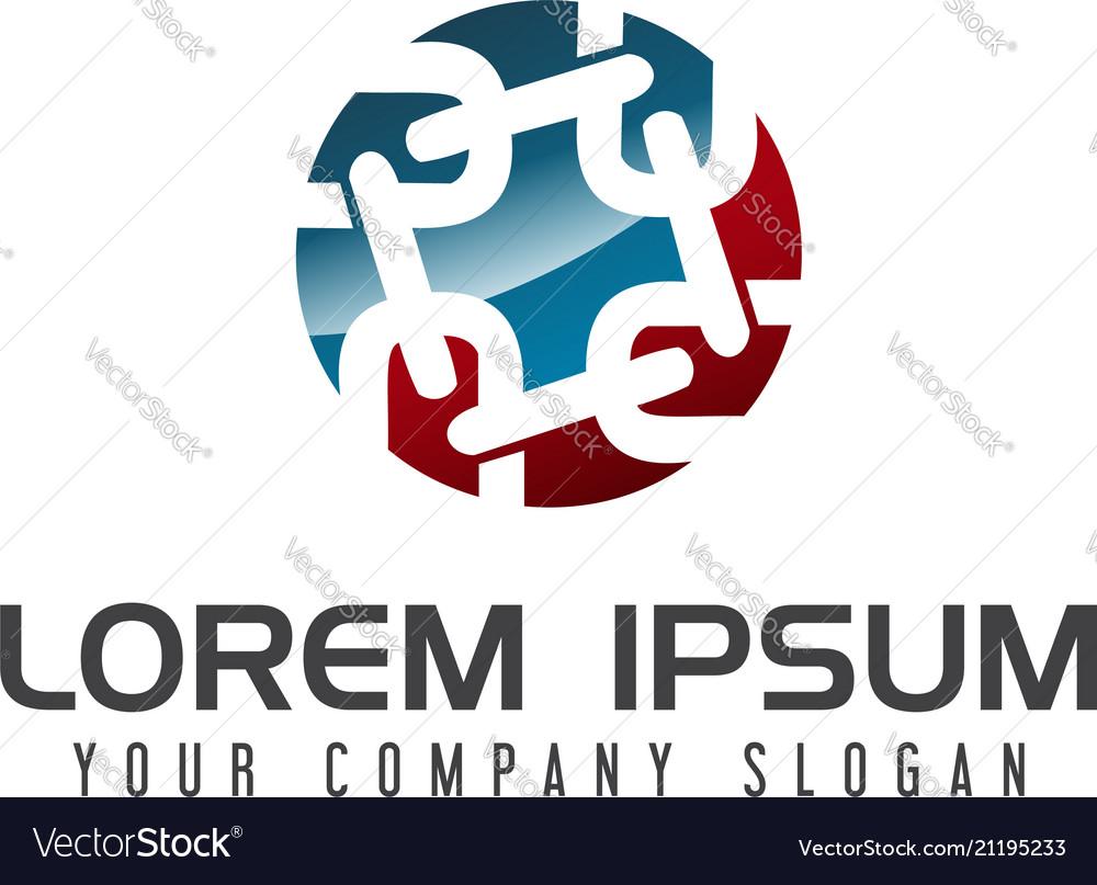 Chain logo design concept template