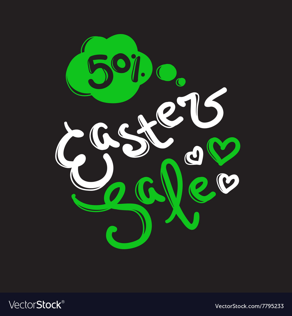 Easter sale label design template with
