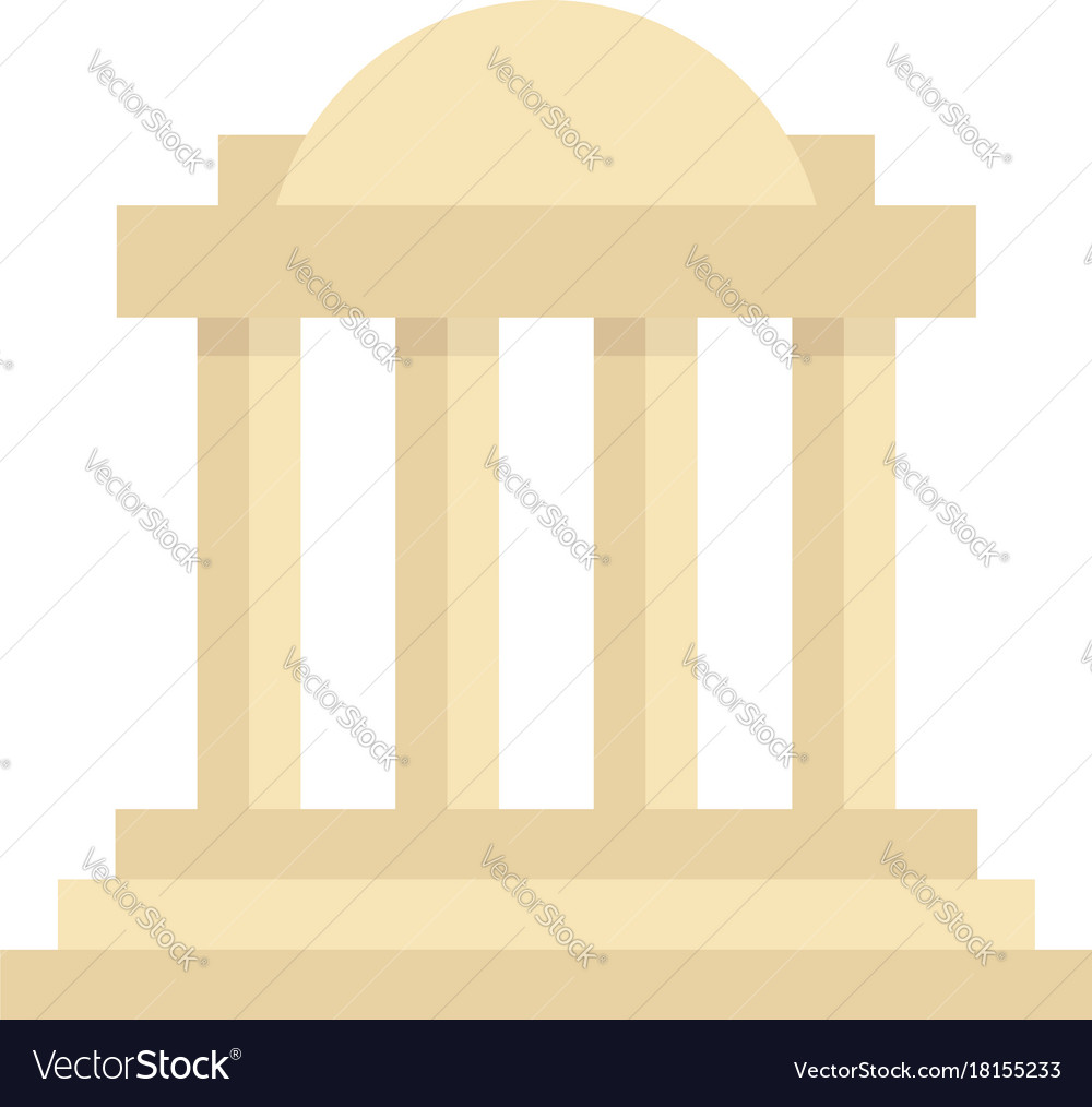 Greek colonnade building with columns
