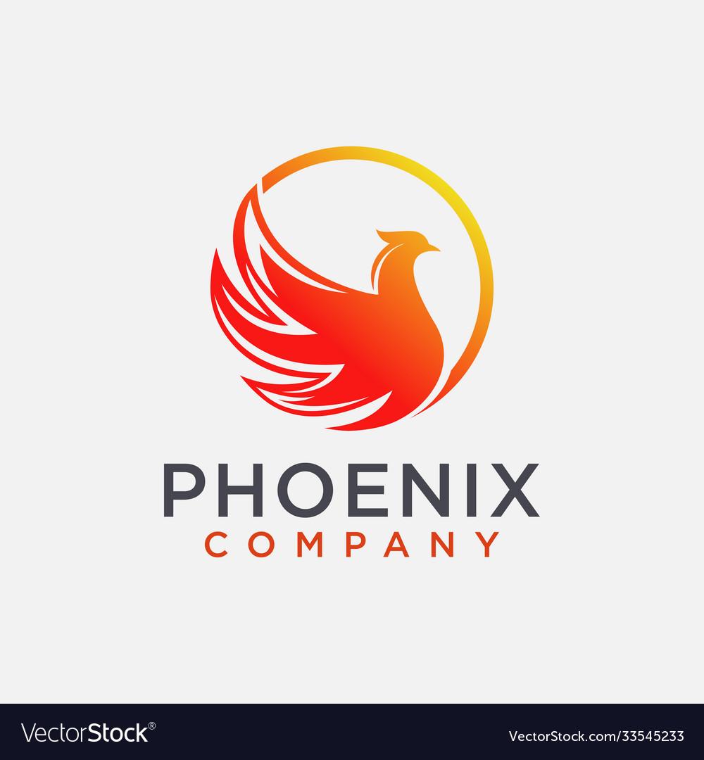 Modern abstract phoenix logo icon template