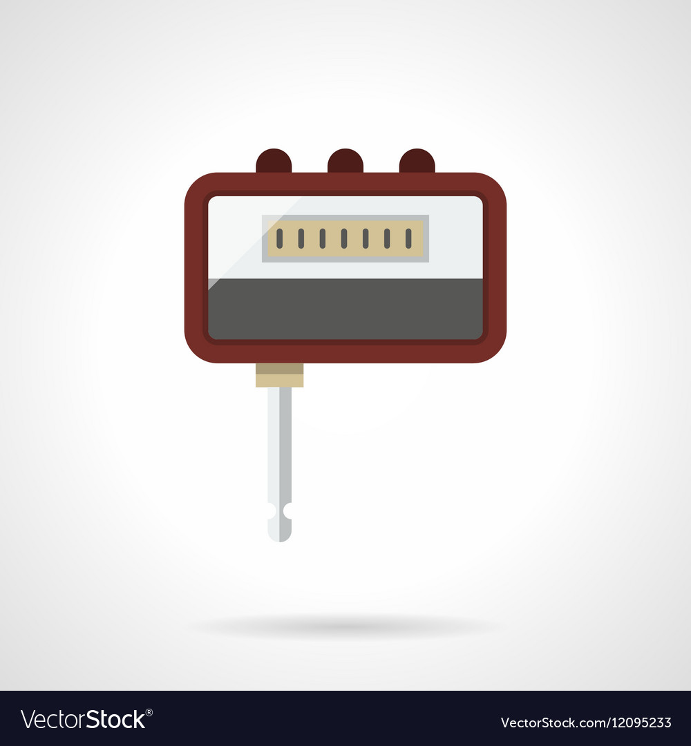 Portable headphone amp flat color icon vector image