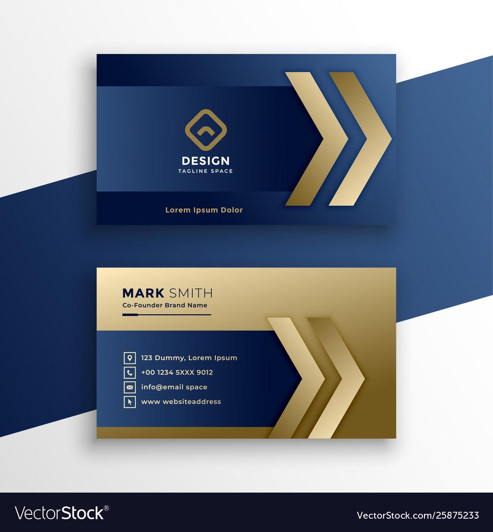 Stylish premium gold business card design