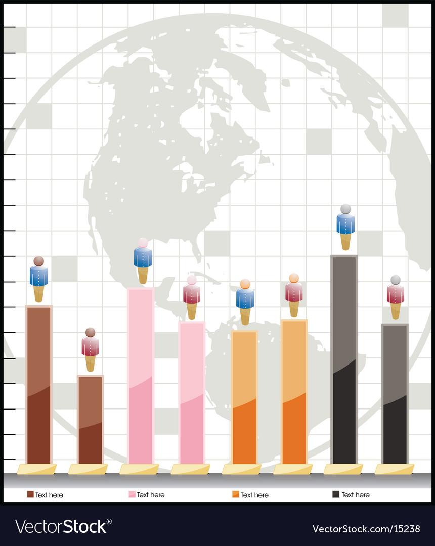 Adjustable demographic graph vector image