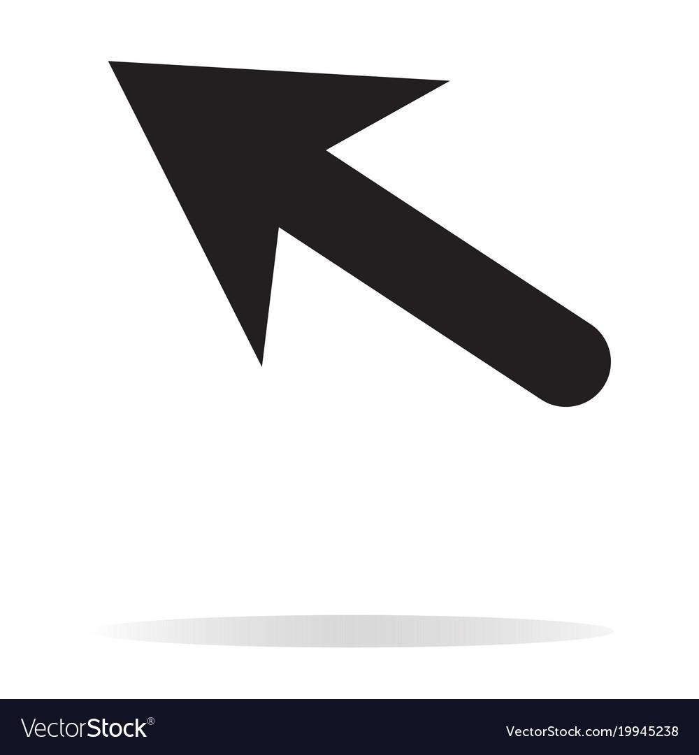 Arrow icon on white background black arrow sign