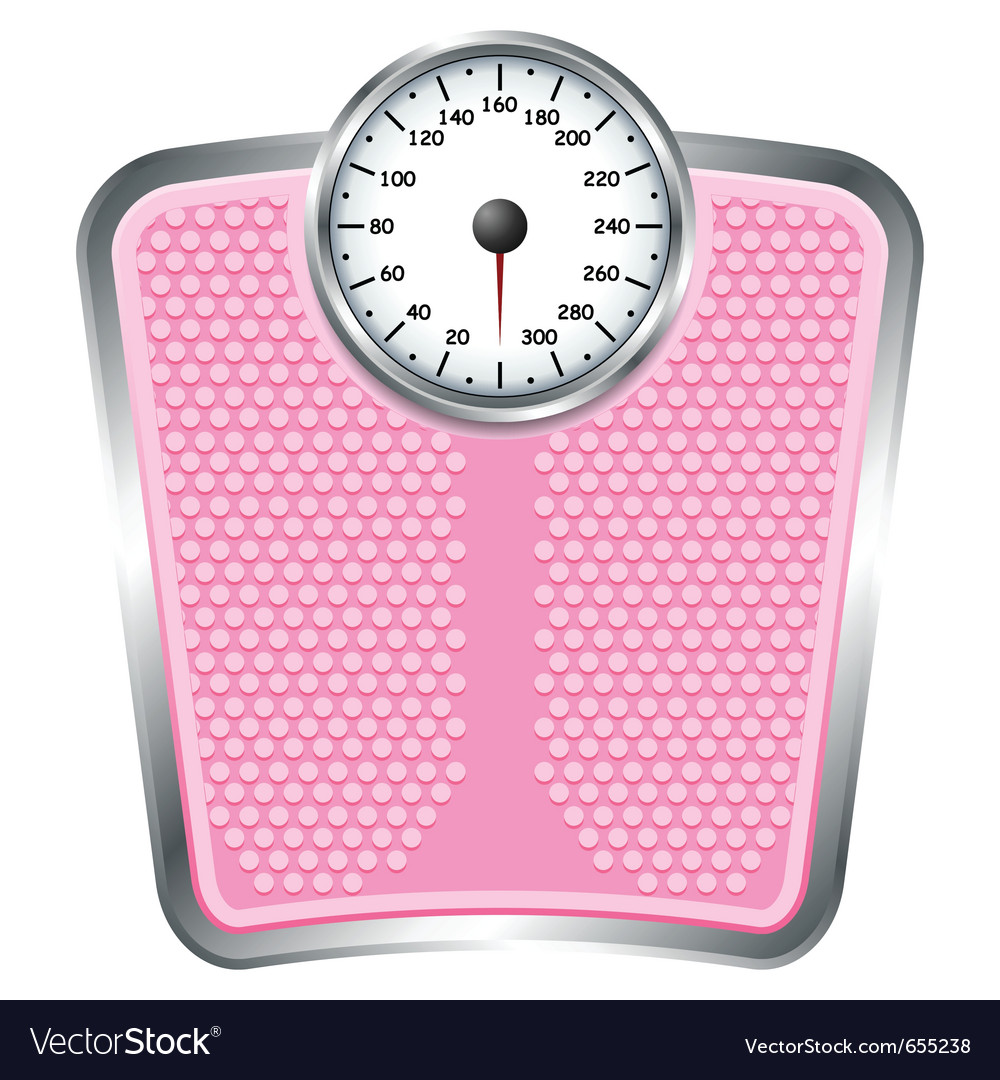 Bathroom Scales Royalty Free Vector
