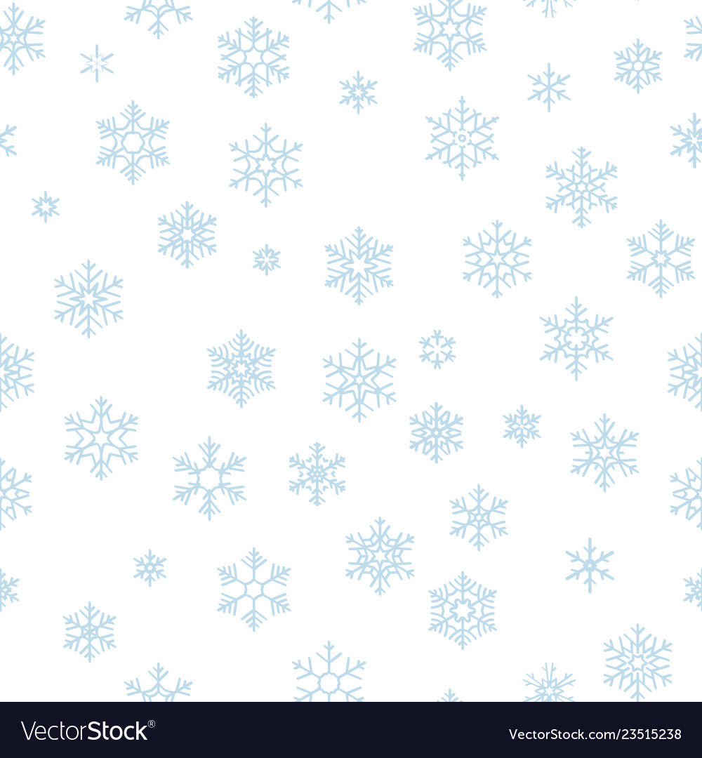 Christmas seamless pattern with light blue