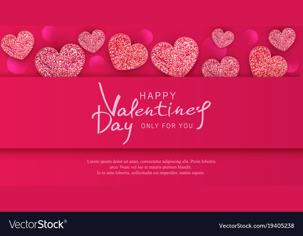 For valentines day background with