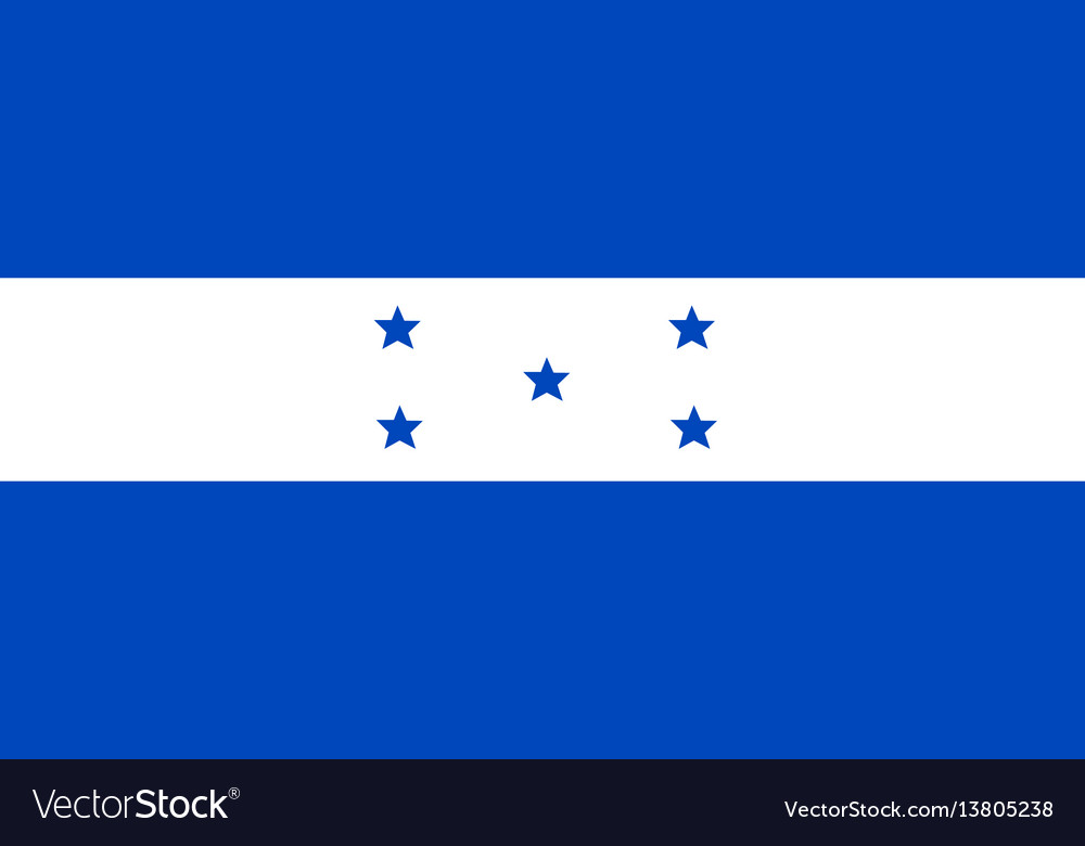 Honduras flag for independence day and vector image