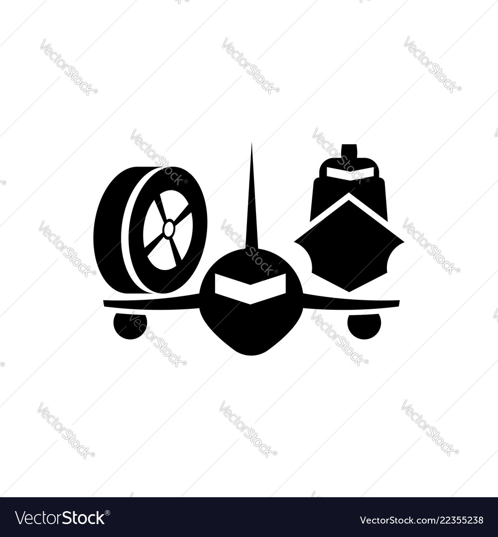 Logotype of transport automobile air transport
