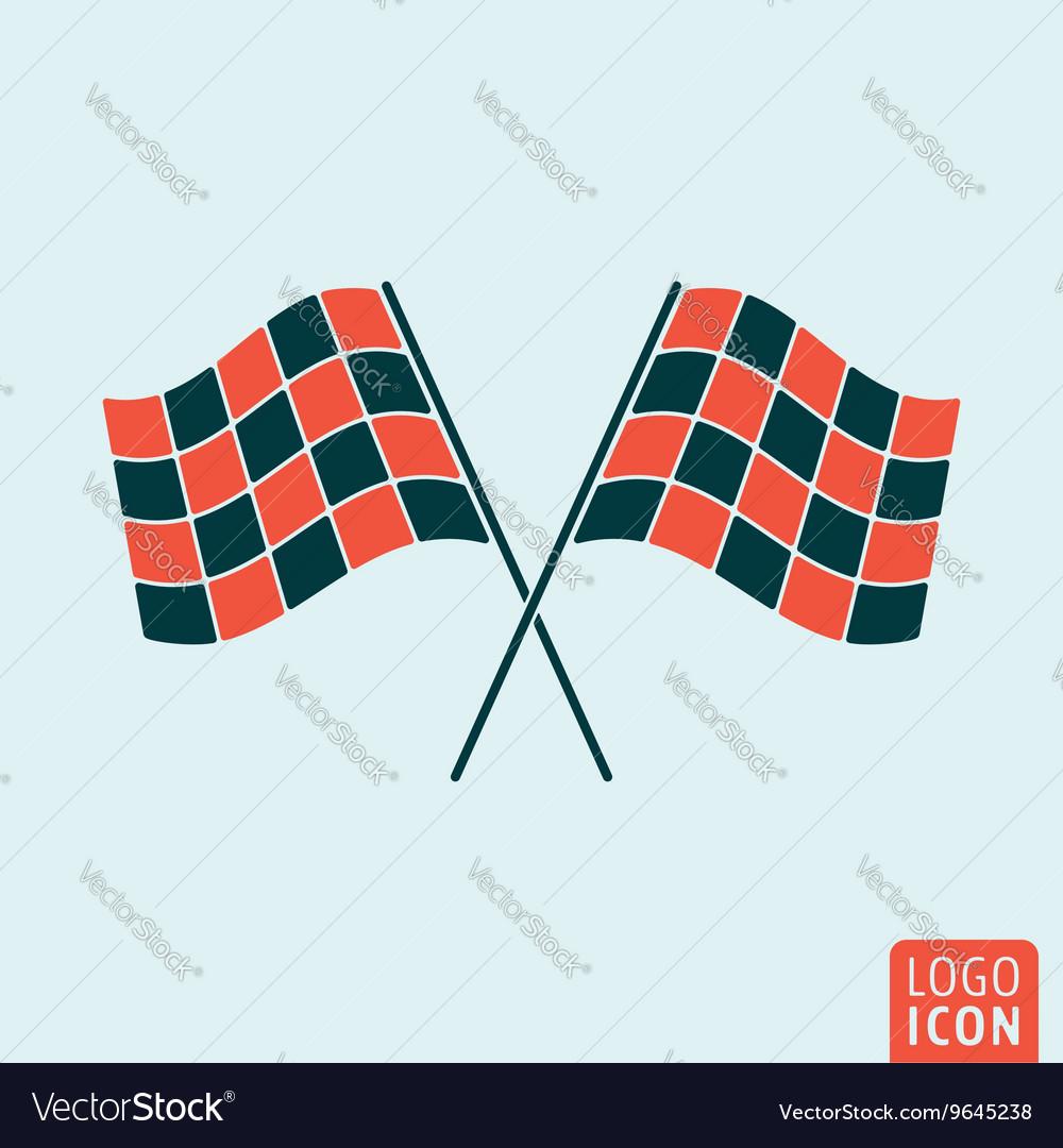 Racing flag icon vector image