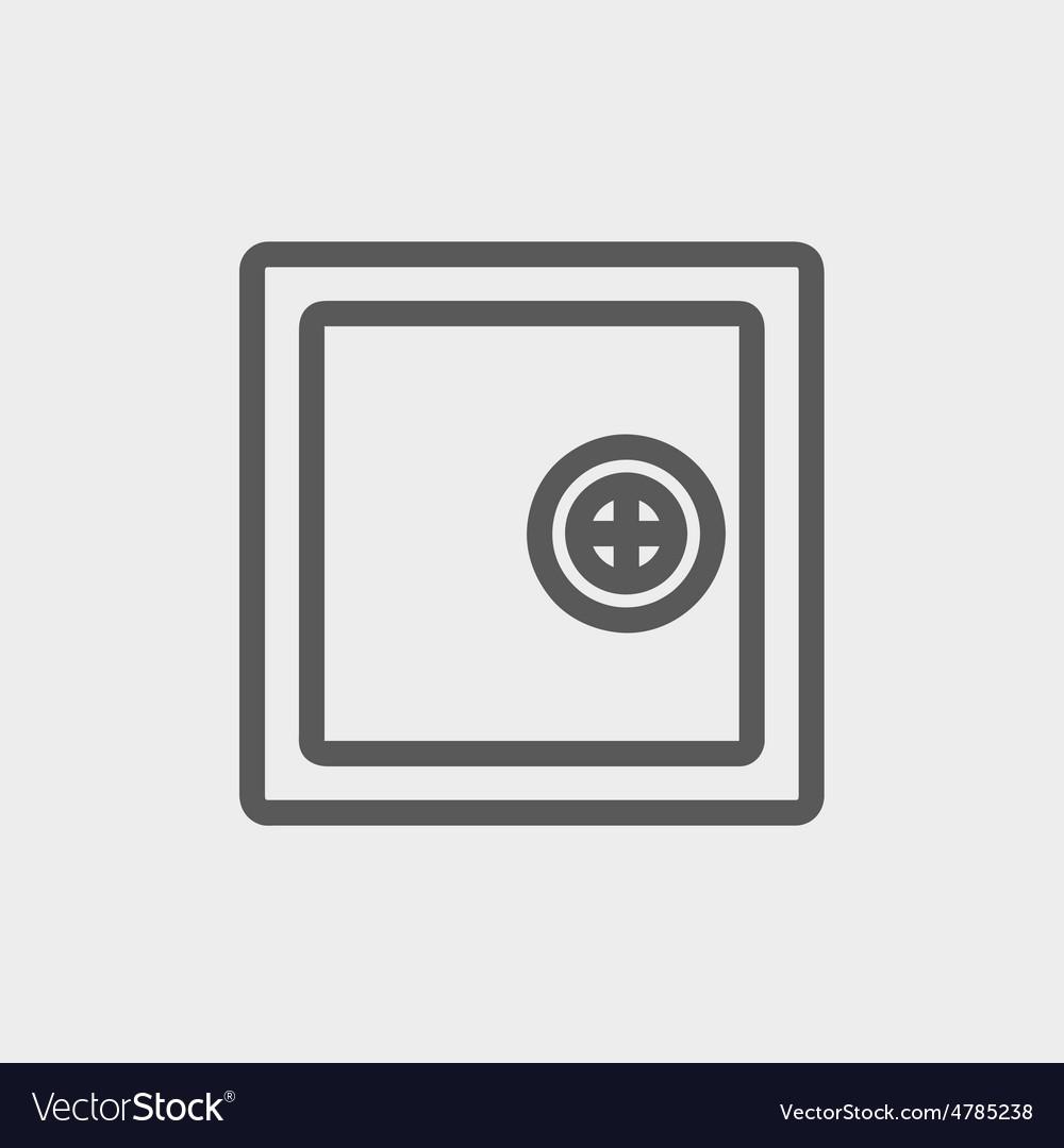 Safe vault thin line icon
