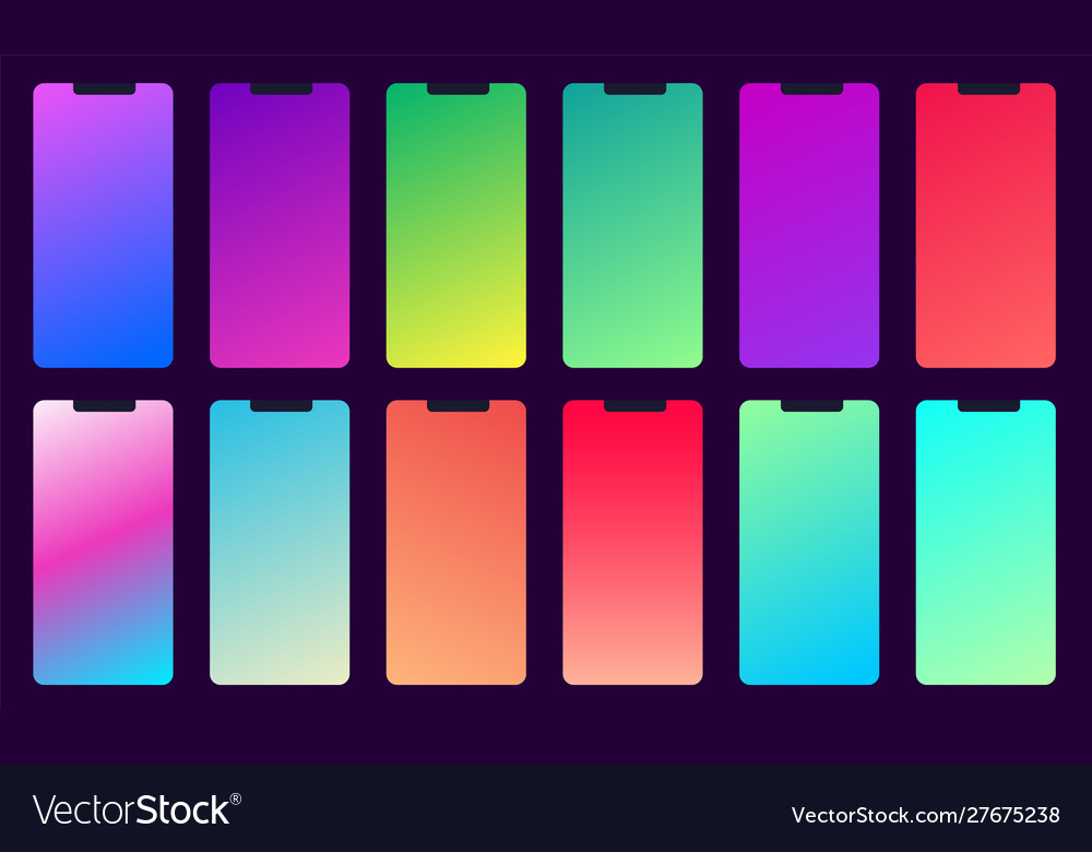 Set 12 color background with gradients