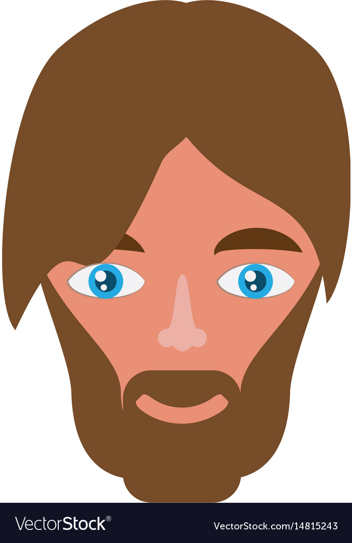 Adult male head vector image