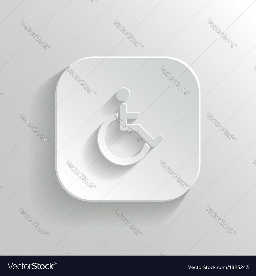 Disabled icon - white app button