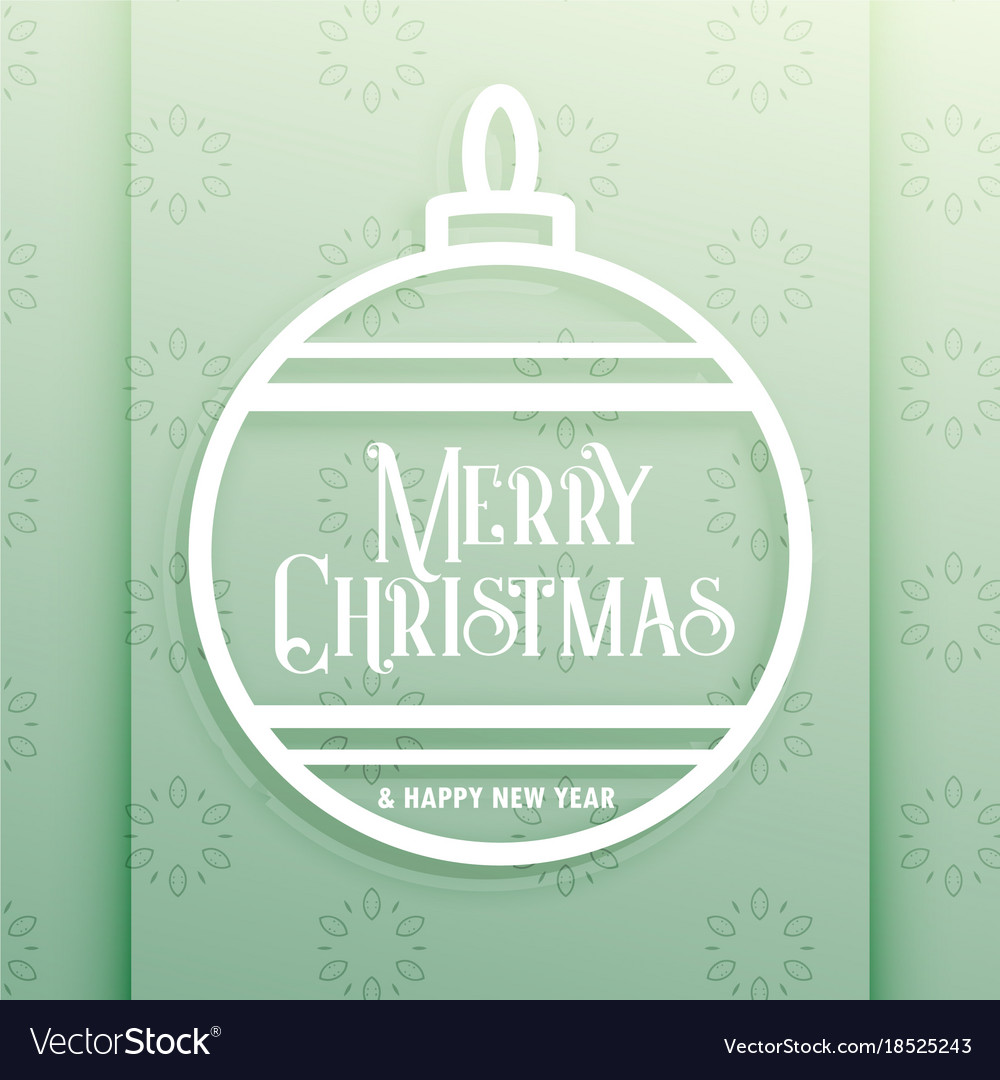 Elegant christmas ball with merry christmas wishes