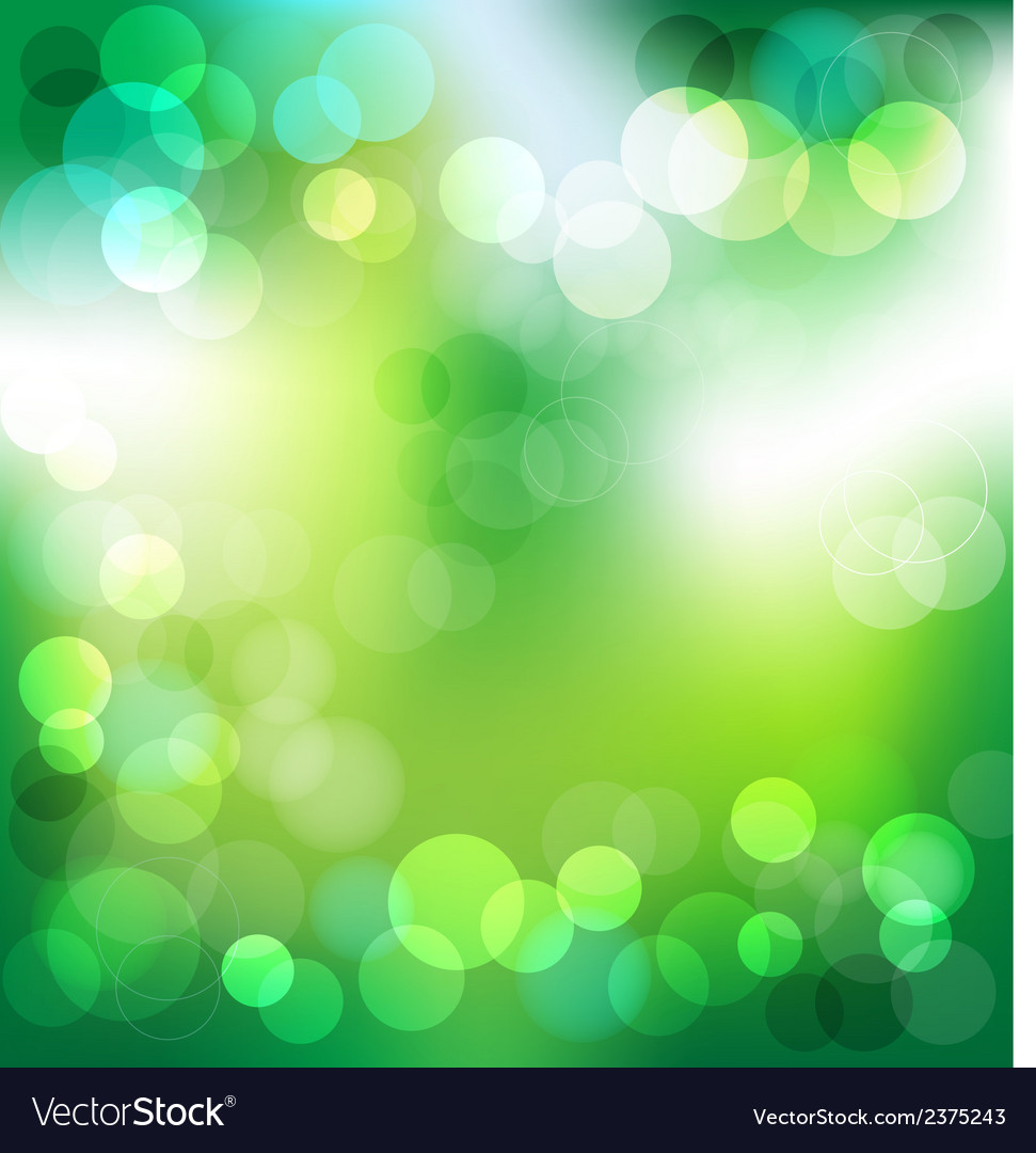 Green elegant abstract background with bokeh