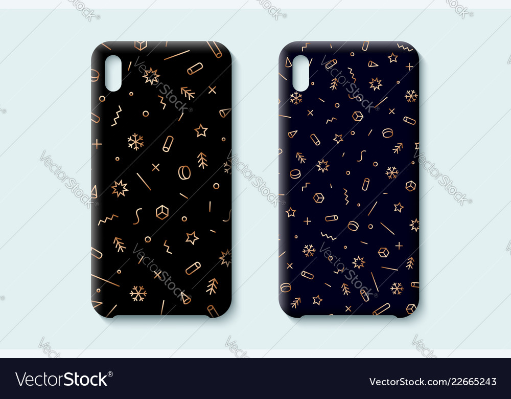 Happy new year pattern template phone case with