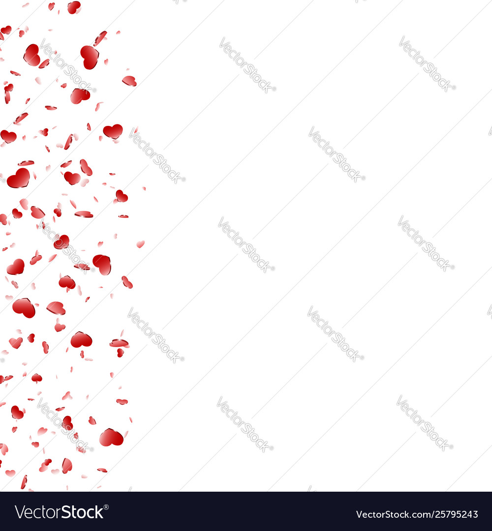 Heart frame isolated white background red hearts