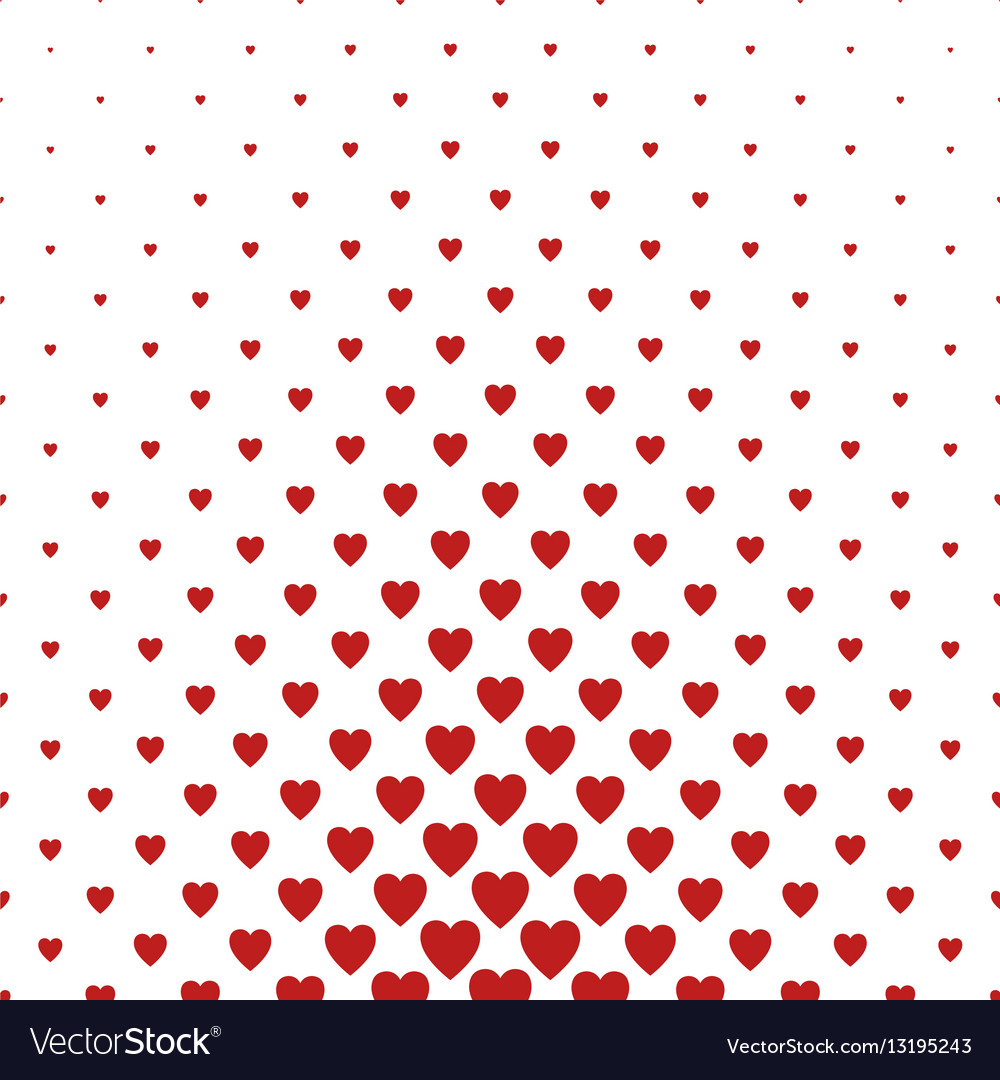 Red heart pattern background design vector image