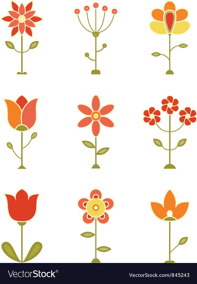 Retro Flower Set