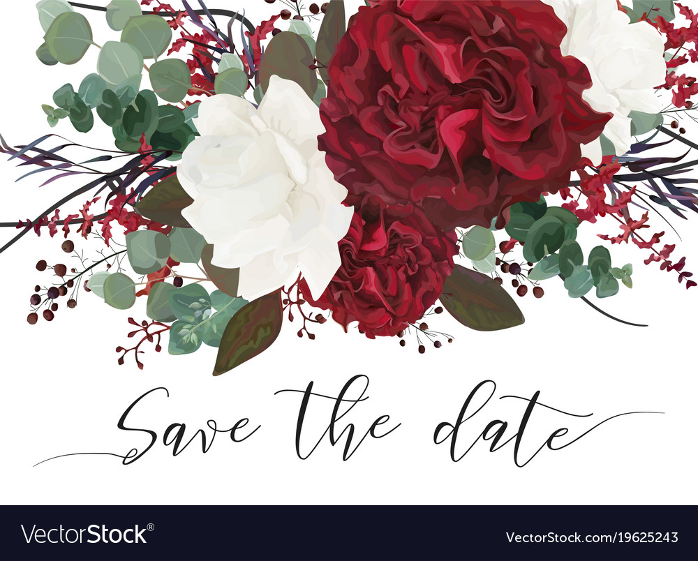 Wedding save the date invite invitation card Vector Image