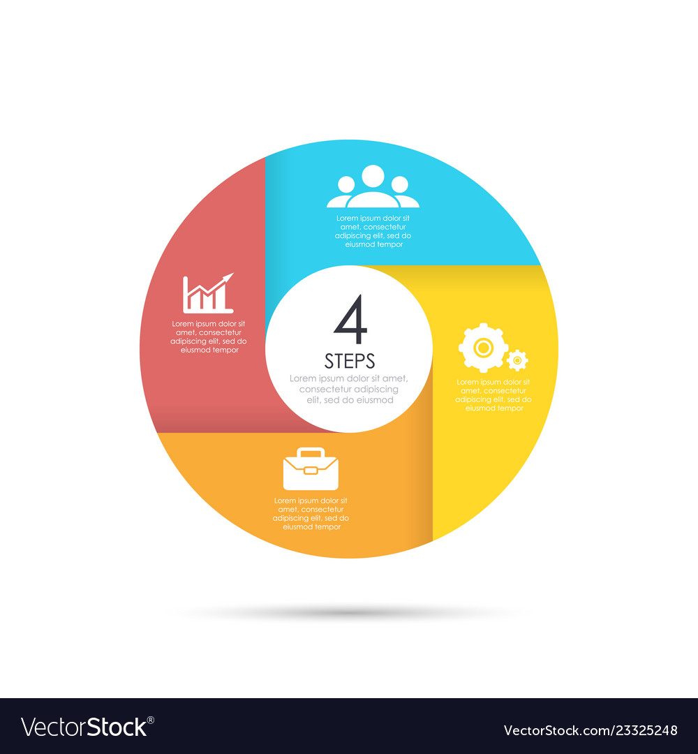 Circle template for infographics