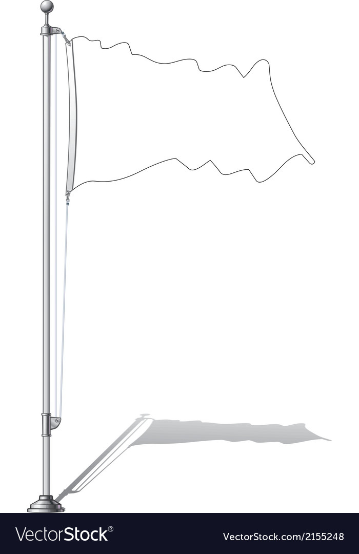 Flag Pole vector image