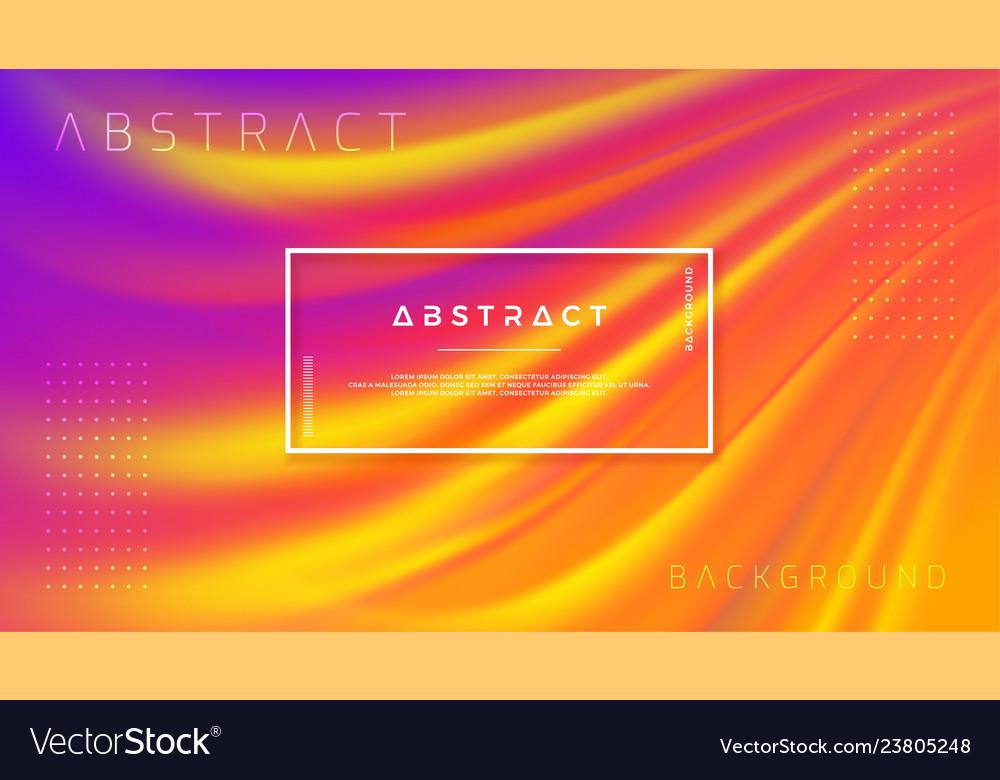 Modern orange purple liquid wave background