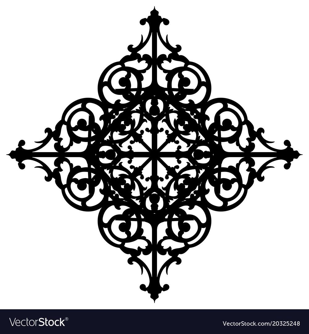 Oriental ornament decorate