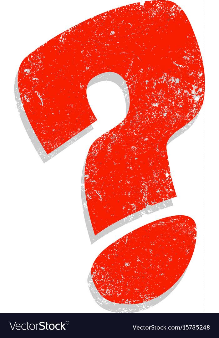 Question Mark Cartoon Icon Royalty Free Vector Image
