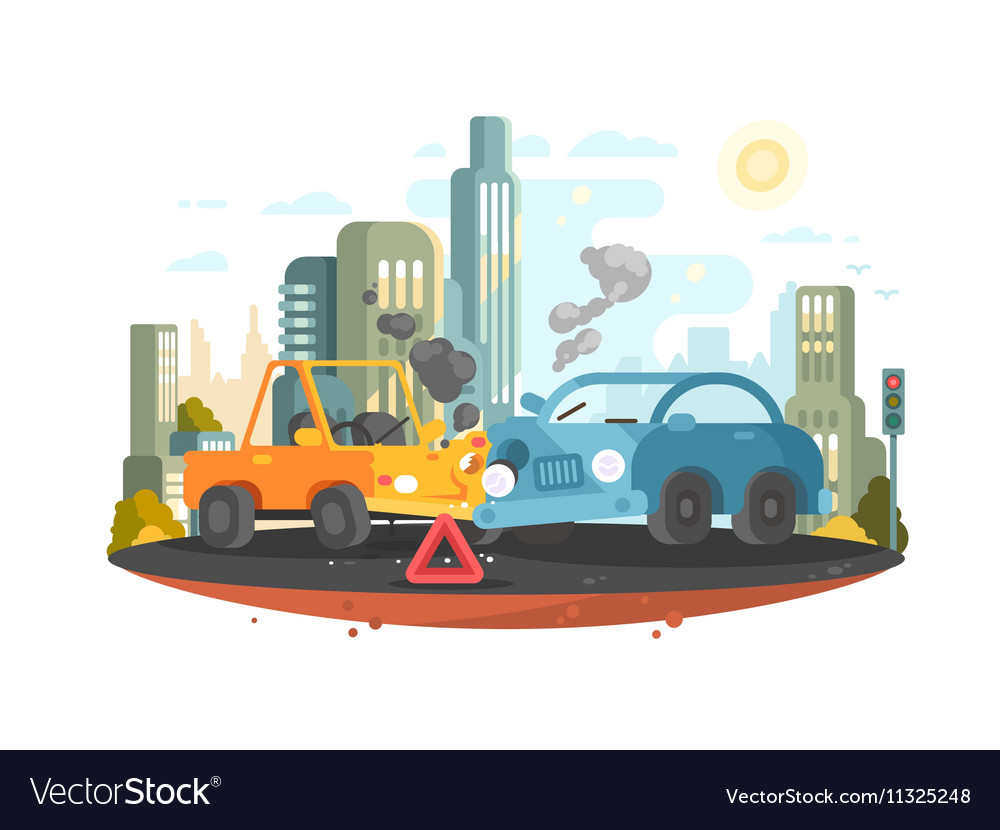 Road traffic accident Royalty Free Vector Image
