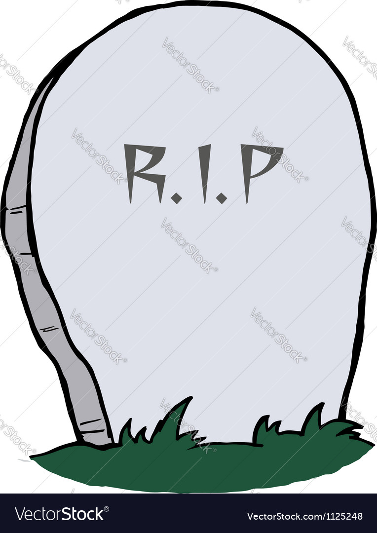 tombstone royalty free vector image vectorstock rh vectorstock com cartoon tombstones pictures cartoon tombstones pictures