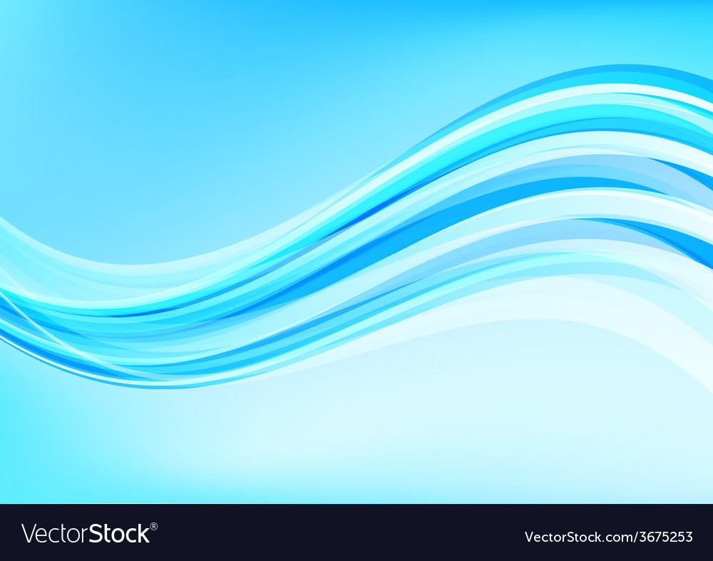 Abstract blue calm ocean deep vector image