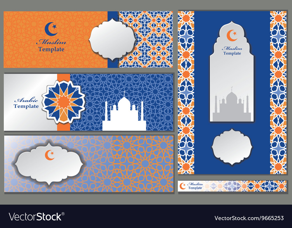 Arabicislammuslim pattern templatesbanners