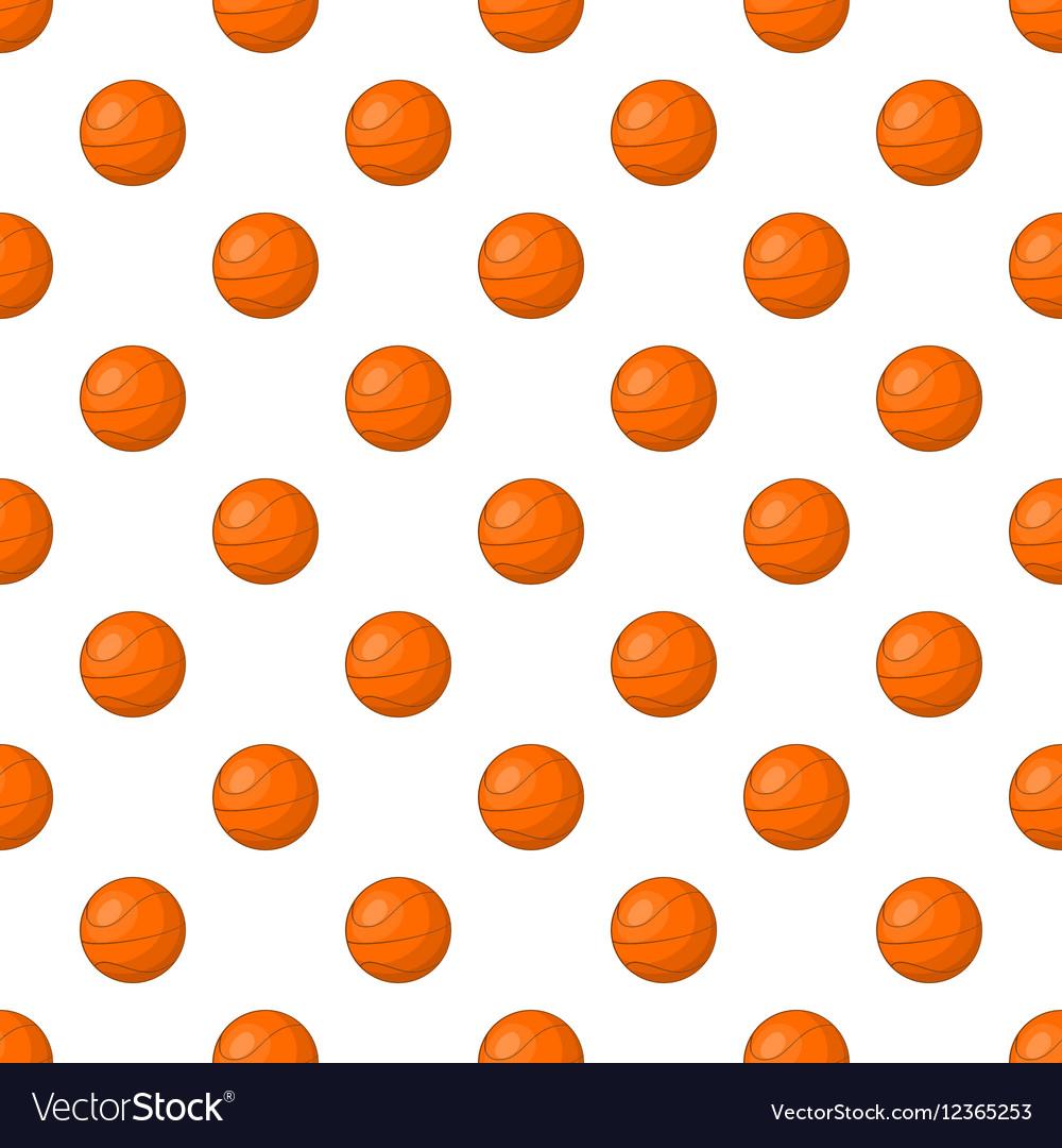 Basketball pattern cartoon style vector image