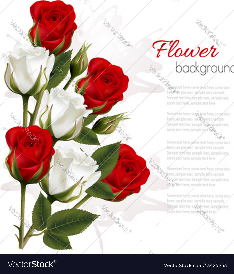 Beautiful getting card with colorful roses