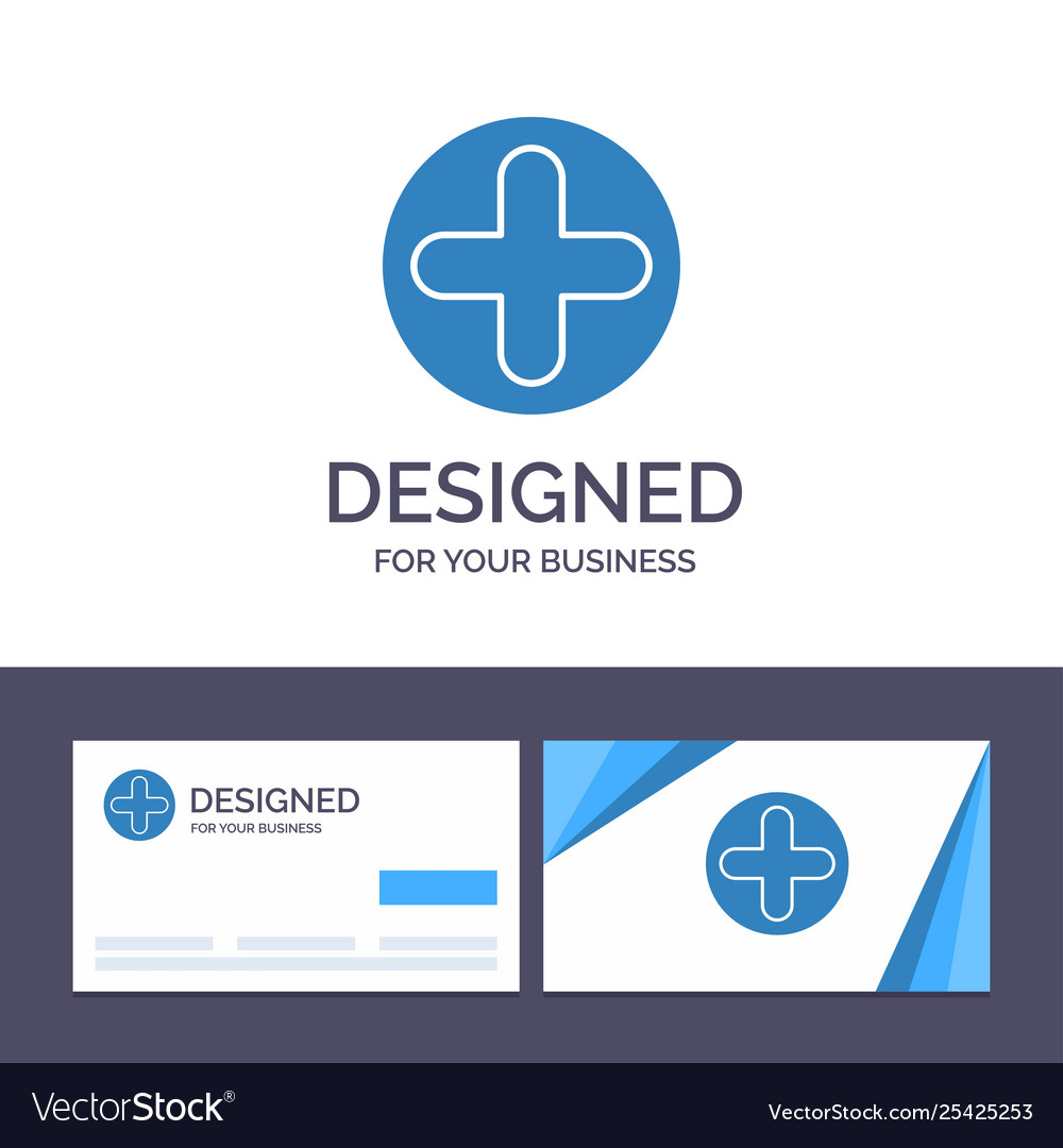 Creative business card and logo template plus