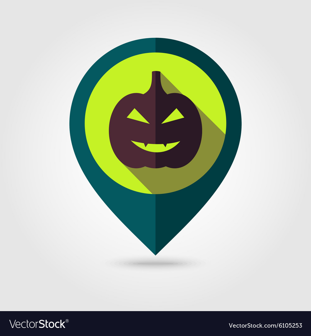 Halloween pumpkins mapping pin icon