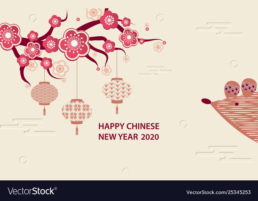 Happy hinese new year 2020 Royalty Free Vector Image