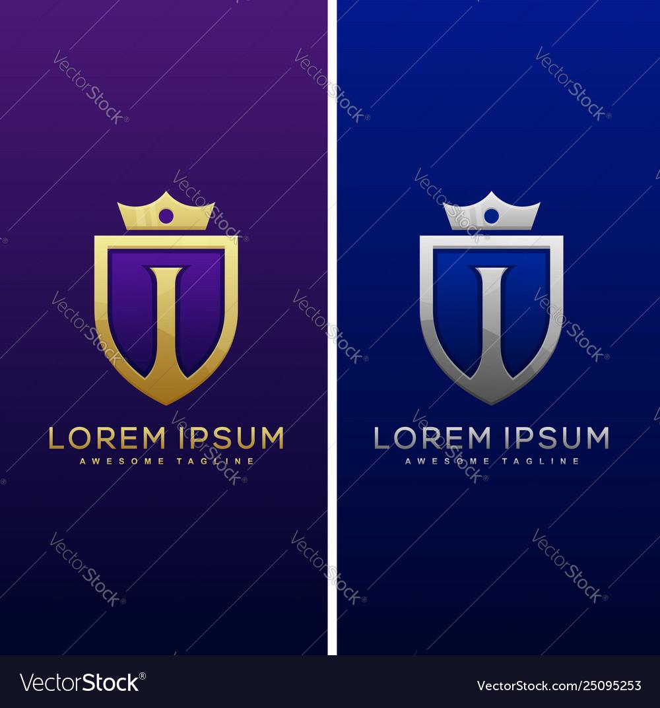 Luxury letter i concept design template