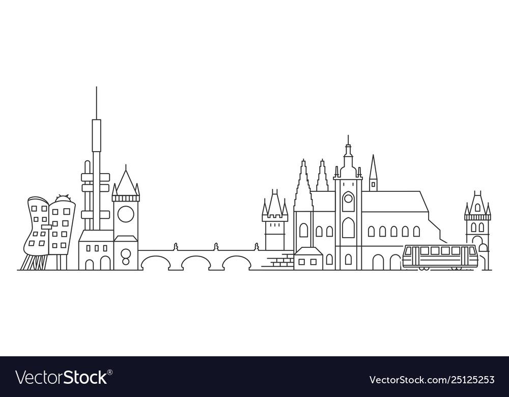 Prague skyline czech republic