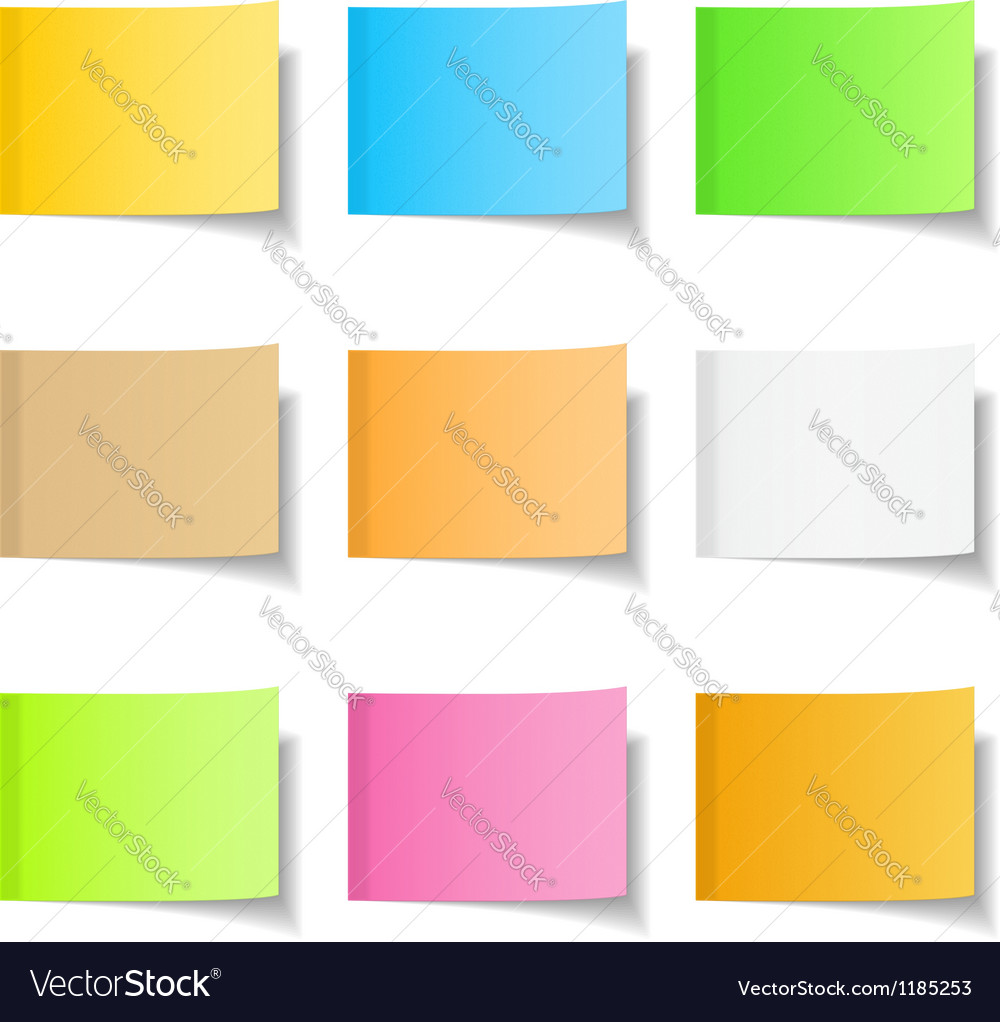 Sticky Notes vector image