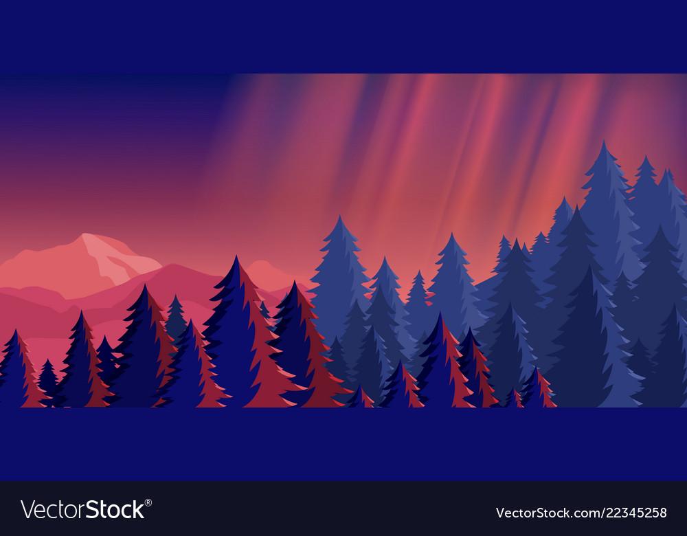 Bright night sky mountain