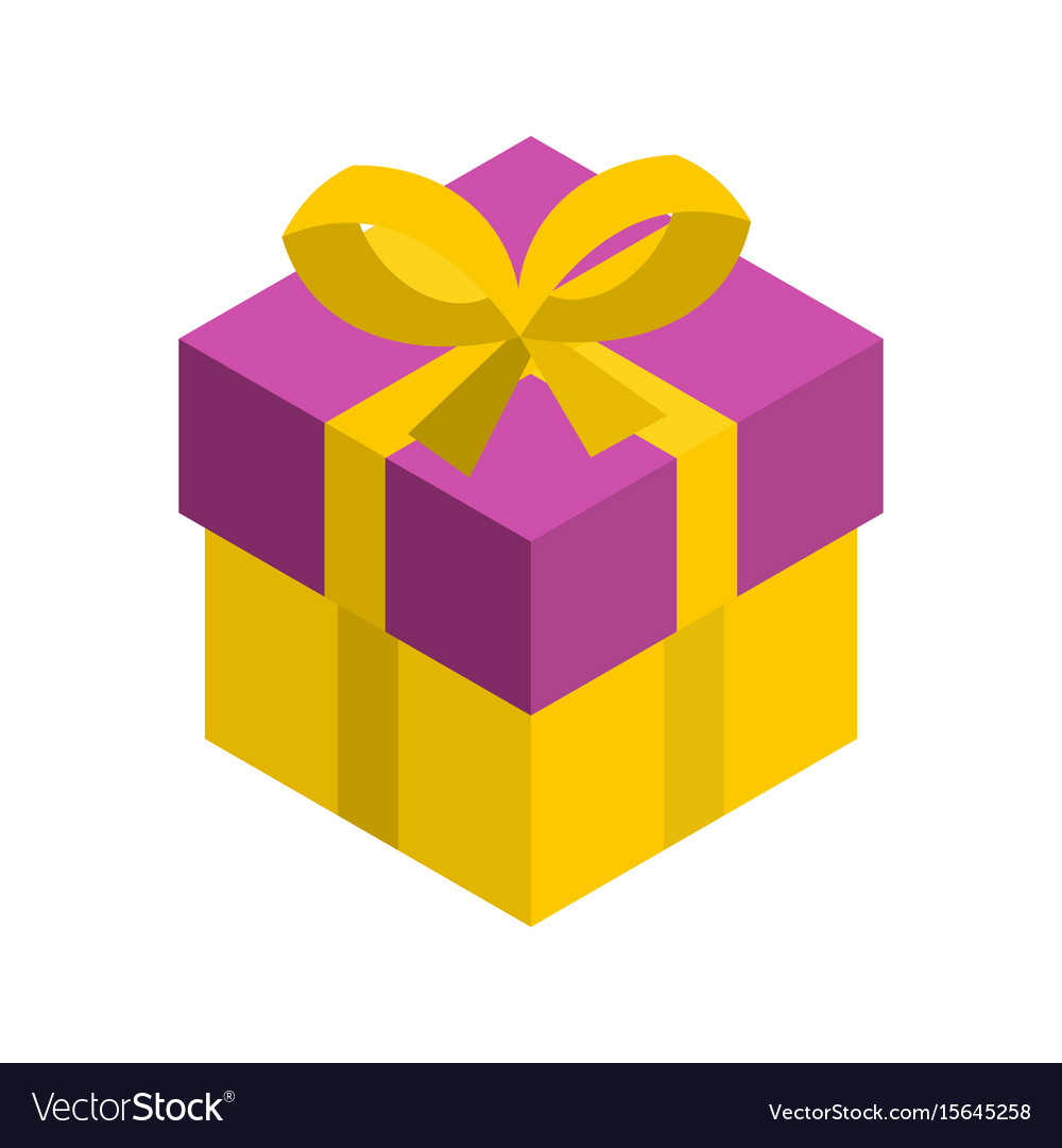gift box 3d isometric isolated cardboard boxes vector image rh vectorstock com gift box vector freepik gift box vector icon