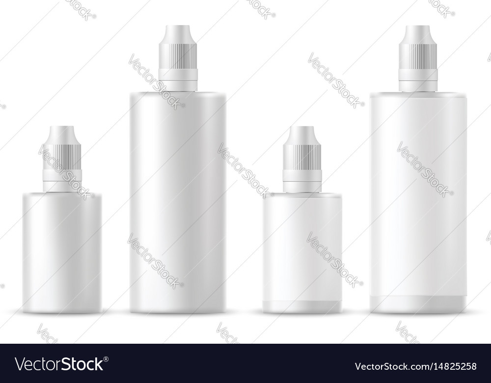 Realistic white cosmetic bottles vector image