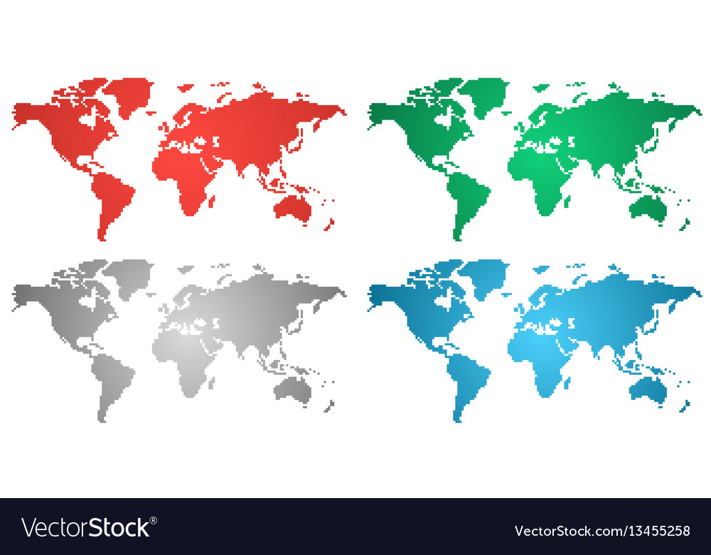 Set of world gradient maps