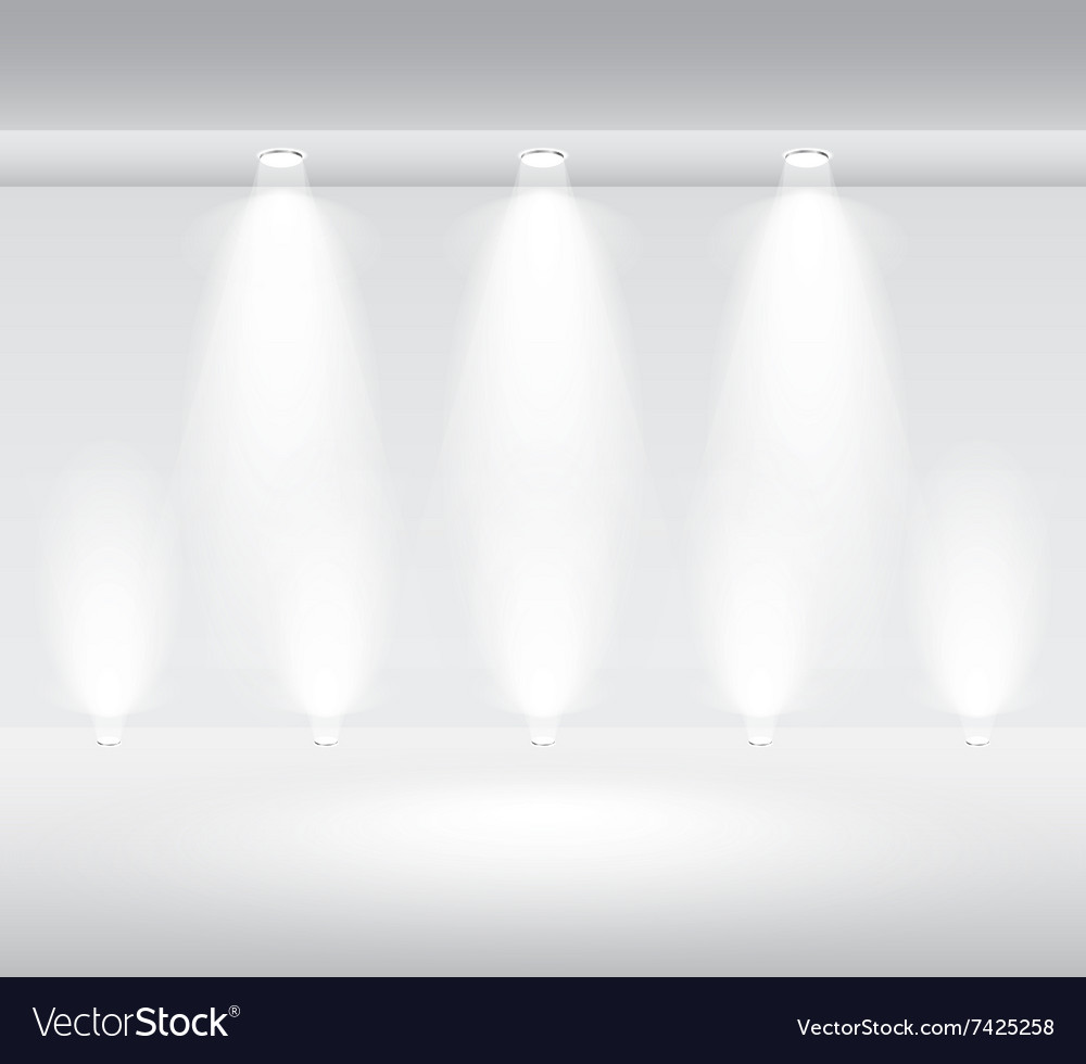 Showcase room isolated vector image