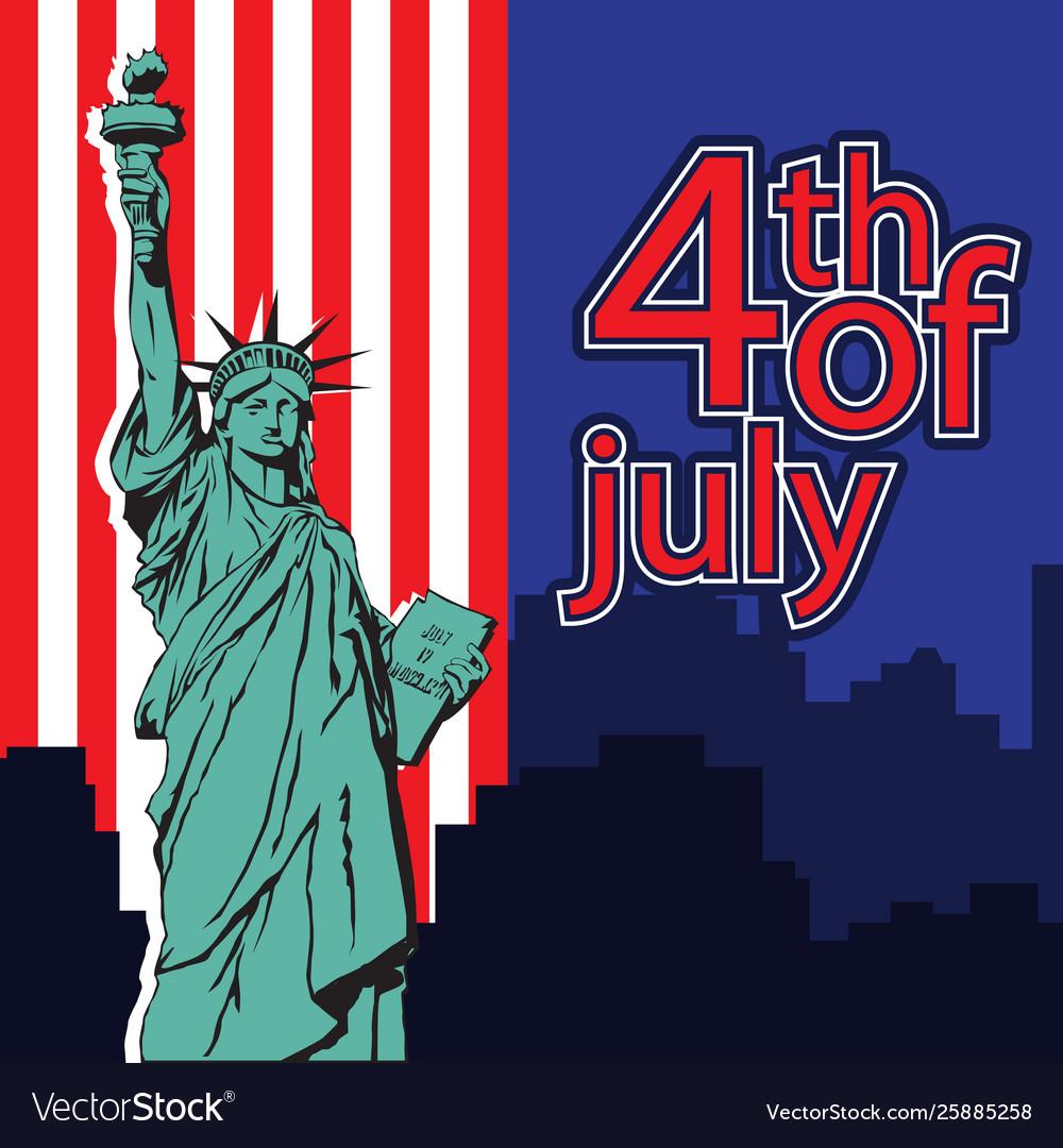 Statue liberty nyc usa symbol usa flag