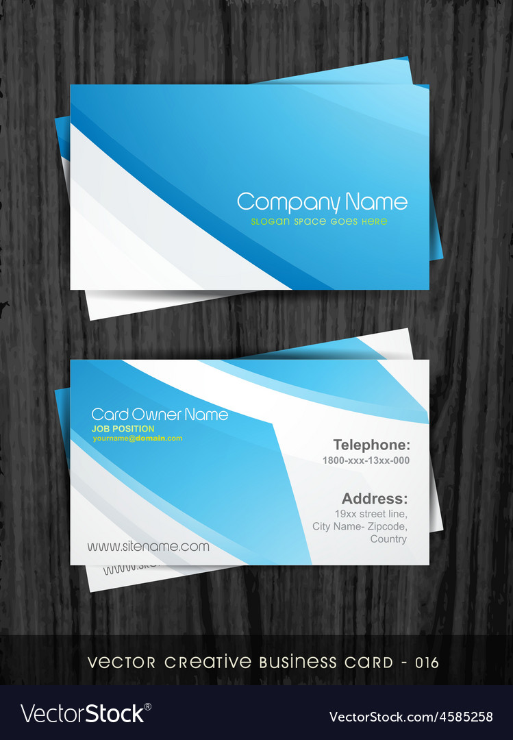 Stylish business card Royalty Free Vector Image