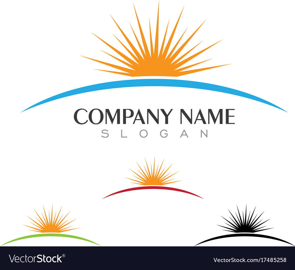 sun logo icon template royalty free vector image